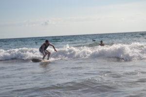 Surfing near JW Marriott hotel in Guanacaste Costa Rica