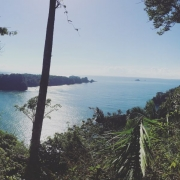 View of the bay on a hike up Manual Antonio Park in Costa Rica